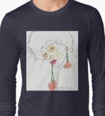 flowers earrings- colored T-Shirt