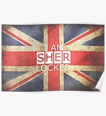 I am SHERLOCKED - Union Jack Poster