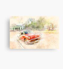 Cuba red car Metal Print