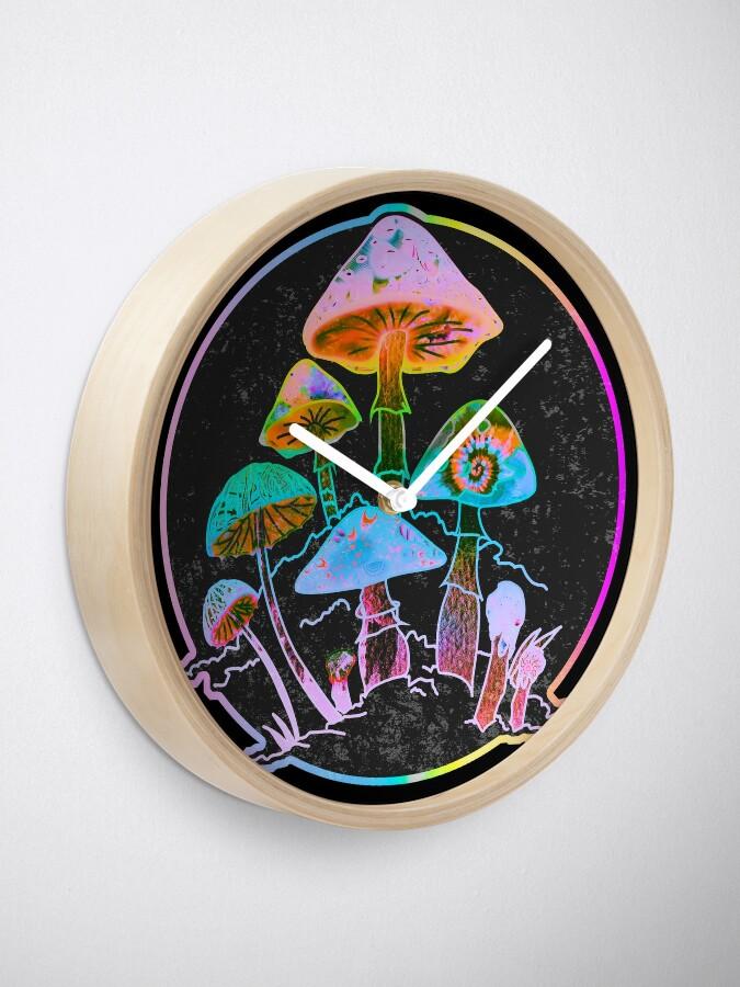 Alternate view of Garden of Shrooms 2020 Clock
