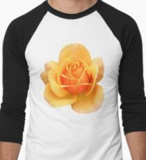 Yellow Rose Flower in Black Background T-Shirt