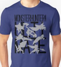 Monster Hunter 4 Ultimate - Crew 2 (black text) T-Shirt