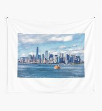 New York and Staten Island Ferry Wall Tapestry