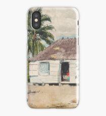 Native Huts Nassau 1885 Winslow Homer iPhone Case/Skin