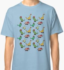 Roller Derby Dinosaurs Pattern Classic T-Shirt