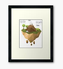 Polygon Mountains Framed Print