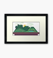 Polygonal Montains Landscape Framed Print