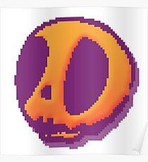 8-Bit Skull Poster