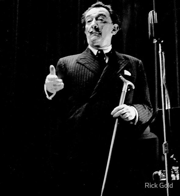 Salvador Dali at Columbia University 1964 by Rick Gold