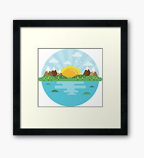Mountains Nature Landscape Framed Print