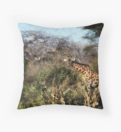 Giraffe Square Throw Pillow
