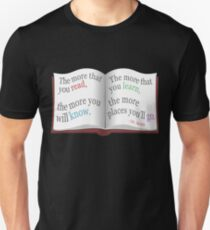 More You Read Quote Design T-Shirt