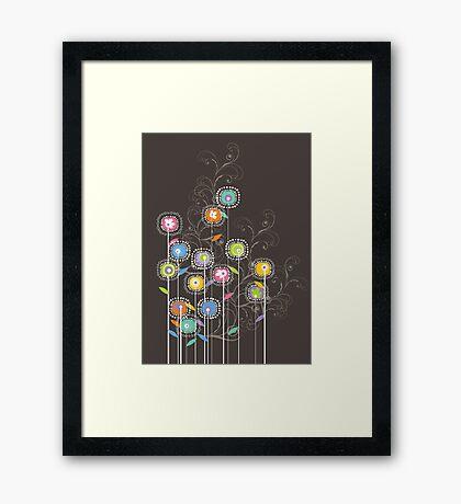 My Groovy Flower Garden Grows II Framed Print