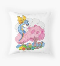 Candy Land Dragon In The Land Of Sweets Throw Pillow