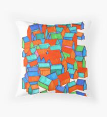 Whole hillside of houses Throw Pillow