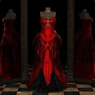 Red Ballgown Reflections by algoldesigns