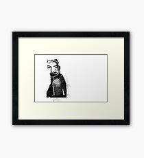 She Is Love - Black and White Woman Framed Print