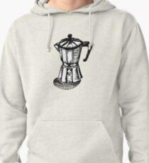 Linocut Espresso  Pullover Hoodie
