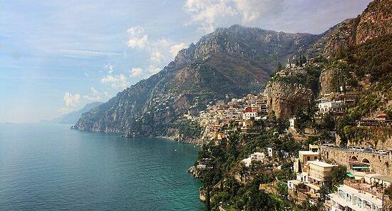 Village of Positano - Amalfi Coast by T.J. Martin