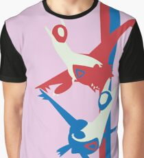 Latios y Latias Pokémon / Latias and Latios Pokémon  Graphic T-Shirt