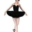 Black Swan Ballerina by algoldesigns