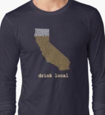 Drink Local - California Beer T-shirt Long Sleeve T-Shirt