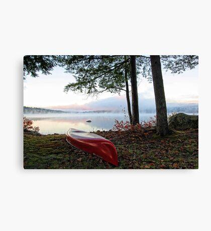 Red OldTown Canoe - Crystal Lake Canvas Print