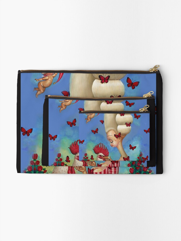 Alternate view of COCK-A-DOODLE Zipper Pouch