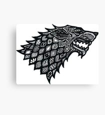 Game of Thrones Doodle Canvas Print