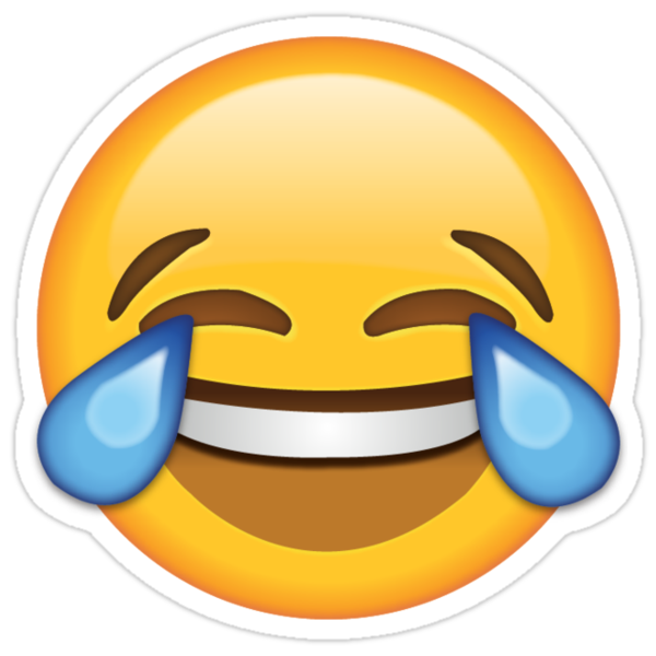 Quot Crying Laughing Emoji Stickers Quot Stickers By Harry Fearns