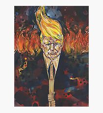 Light of the right (Tiki torch Trump) painting - 2017 Photographic Print