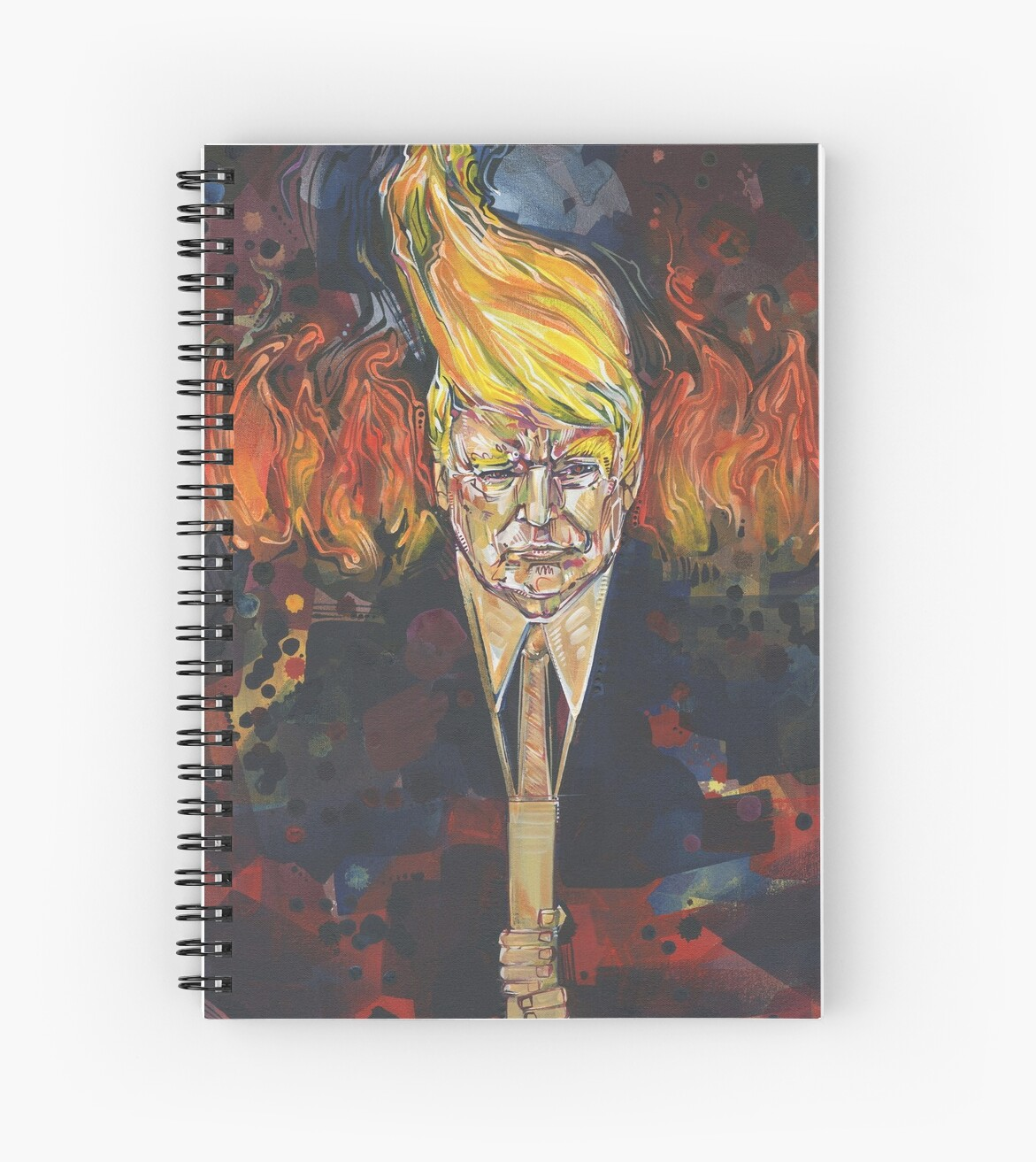 Light of the right (Tiki torch Trump) painting - 2017 by Gwenn Seemel