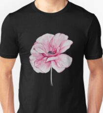 Watercolor Pink Poppy T-Shirt