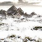 Snowy Winter Mountain Landscape by algoldesigns