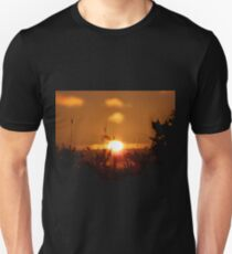 Sunset with flowers T-Shirt