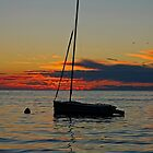 Sunset at Zelena Laguna by JMChown