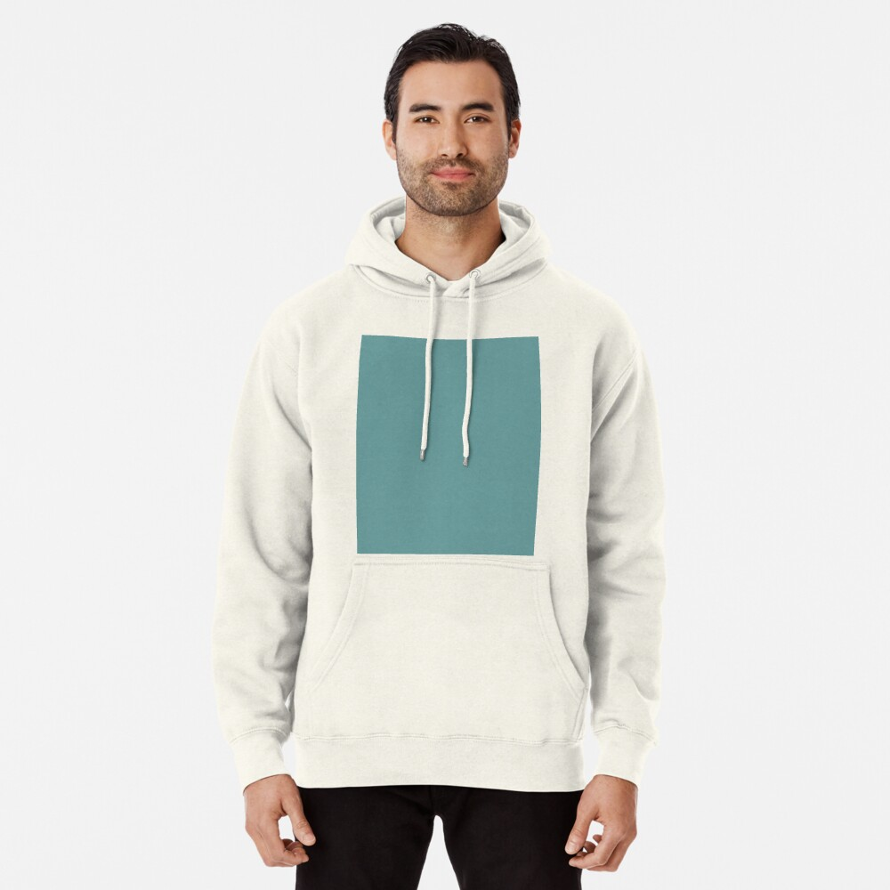 Solid Colour | Desaturated Cyan | Blue |Aqua Pullover Hoodie