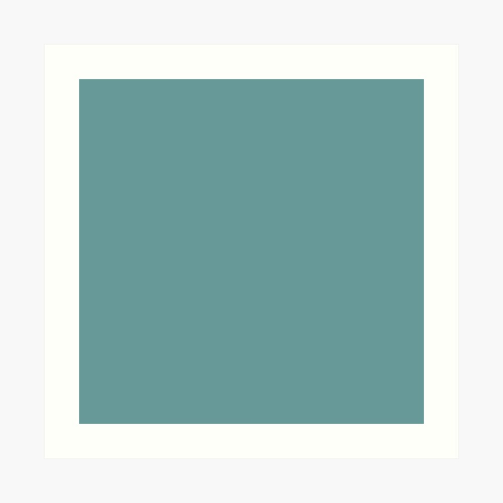 Solid Colour | Desaturated Cyan | Blue |Aqua Art Print