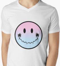 Emoji of a Wave Ombre V-Neck T-Shirt