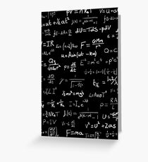 Physics - handwritten Greeting Card