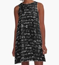 Physik - handgeschrieben A-Linien Kleid