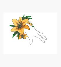 The Hand of a Lily Photographic Print