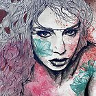 No Hope In Sight: Purple (tattoo girl portrait) by Marco Paludet