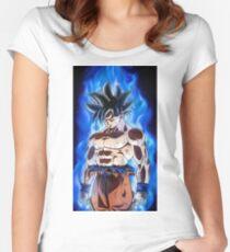 Goku Limit Breaker (Power Up) Women's Fitted Scoop T-Shirt