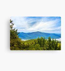 Adirondacks Scenic Mountain Landscape Canvas Print