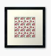 Red Floral Garden Framed Print
