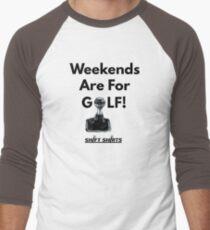 Weekend Golfer - Volkswagen Golf VW GTI Baseball ¾ Sleeve T-Shirt