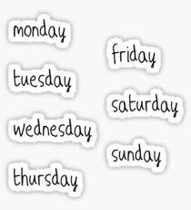 days of the week sticker pack ○ bullet journal aesthetic  Sticker