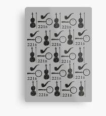 Sherlock Holmes Pattern Metal Print