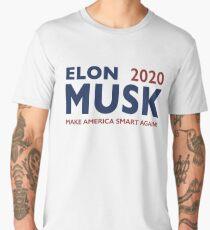 Elon Musk 2020 - Make America Smart Again! Men's Premium T-Shirt